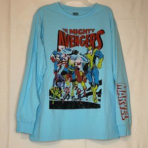 Men's Mighty Avengers Long Sleeve Graphic T XL